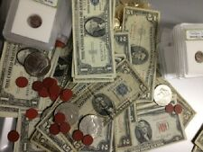 ESTATE LOT(6)$1$2$5 RED/BLUE SEAL 1928-1963 CURRENCY NOTES+GOLD+SILVER+MORE#%30