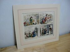 Antique James Gillray Print / Lithograph - John Bull's - Bohn Edition - 103