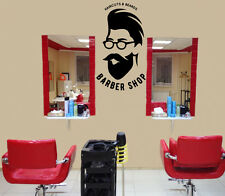 Wall Vinyl Decal Barber Shop Haircuts Beards Decor z4739