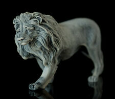 Lion Marble, art statue stone miniature realistic sculpture animal figurine