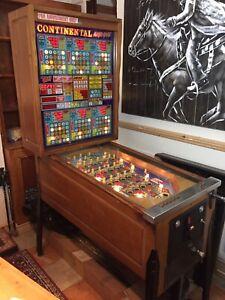 Continental Magic Game Coin Operated Bingo Machine Pinball Machine Very Rare