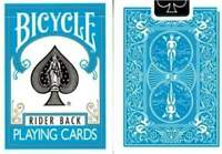 Bicycle Rider Back Turquoise Playing Cards Standard Deck Made in USA