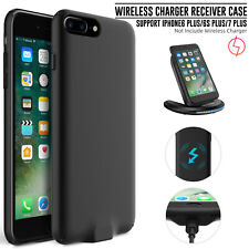 For iPhone 6 6s 7 Plus QI Wireless Charger Power Receiver Case Charging Cover US