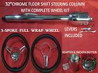 32 Streethot Rod Pickup Truck Chrome Tilt Steering Column Floor Shift Wheel