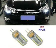 Ampoules LED Blanc HP24 feux de jour diurnes 48 SMD PEUGEOT 3008 5008 CITROEN C5