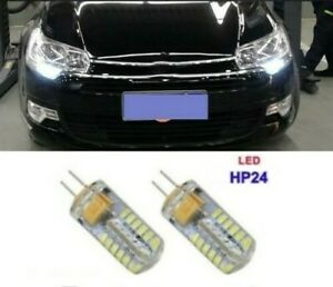 Ampoules LED Blanc HP24 feu de jour diurnes 48 SMD PEUGEOT 3008 5008 CITROEN C5