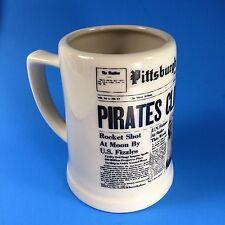 1960 Pittsburgh Pirates Bucs Clinch NL Pennant Coffee Mug MLB Mazeroski Clemente