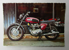 VINTAGE TRIUMPH MOTORCYCLE FACTORY POSTCARD BROCHURE 1972 TRIDENT 3 CYLINDER 750