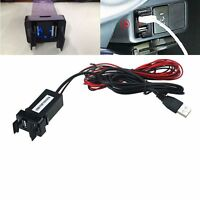 Car 12V To 5V 2.1A USB Ports Dashboard Audio Input Charger For TOYOTA Tide