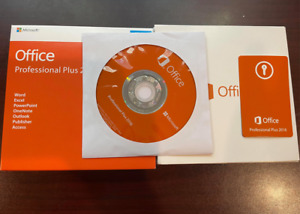 Microsoft Office 2016 Professional For Windows 1PC New Sealed DVD