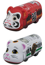 Bearbrick Train Daruma Manekineko Set Medicom Toy Be@rbrick BT 01 , BT 02