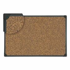 Universal Tech Cork Board, 24 x 18, Cork, Black Frame - UNV43021