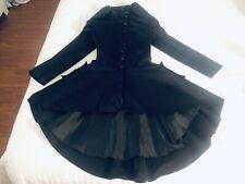 Black steampunk Dress / Coat -Xs