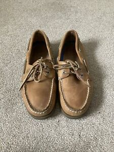 Sperry AO Top Sider 2 Eye Mens Leather Boat Deck Shoes brown