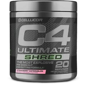 Cellucor C4 ULTIMATE SHRED Pre-Workout Energy, 20 Servings STRAWBERRY WATERMELON