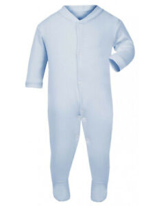 Baby Sleepsuits - Light Blue (packs of 3)