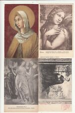 Lot 4 CPA post card ITALIE ITALIA ITALY SIENNE SIENA tableau tabella peintre 1