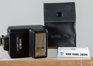 Minolta 280PX Flash For Minolta X700/570/370  W/case and manual.  Tested/Guarant