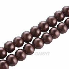 GLASS PEARL Round BEADS - Choose 3mm,4mm, 6mm, 8mm, 10mm ,12mm14mm,16mm