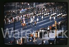 1961 Kodachrome photo slide Indianapolis IN parade  #12 Baton Twirlers majorette
