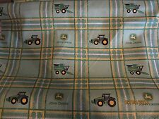 John Deere  baby toddler sheets set blocks tractors combine green
