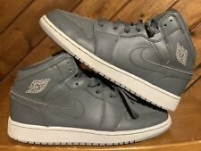 Nike Air Jordan 1 Retro Mid GS Cool Grey Wolf Grey' 554725-031 Youth Size 7Y