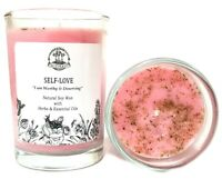 Self-Love Affirmation Soy Candle Acceptance Healing Forgiveness Wiccan Pagan