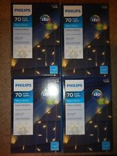 4 boxes Philips 70 Warm White Led Icicle Lights White Wire Indoor/Outdoor