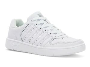 K Swiss Court Palisades White Leather 06931117 Mens Shoes Sneakers Sizes  7.5-12