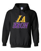 "BLACK Lebron James Los Angeles Lakers ""LABRON""   HOODED SWEATSHIRT"