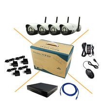 HJT 4CH HD 720P WIFI Wireless IP Camera System 8CH NVR P2P Outdoor Security CCTV