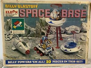 Eldon 1970 Billy Blastoff Space Base Astronaut Set with Box + extra vehicles