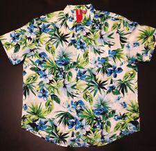 Izod Mens XL Hawaiian Summer Tropical Short Sleeve Cotton Shirt New