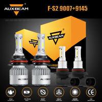 Auxbeam 9007 LED Headlight Bulbs Hi-Lo +9145 H10 Fog Lamps for Ford Ranger 01-11
