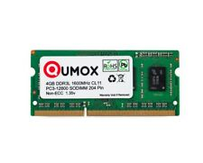 4Go Qumox DDR3 DDR3L 1600MHz PC3-12800 PC-12800 204 PIN SO-DIMM Mémoire 1.35v