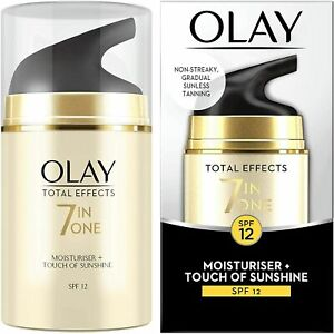 Olay Total Effects 7-in-1 Touch of Sunshine Moisturiser,  SPF12, 50ml, New