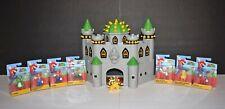 Nintendo Super Mario Deluxe Bowser's Castle Playset Lot - Bowser & 7 New Figures