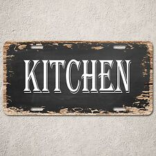 LP0214 KITCHEN Sign Rustic Auto License Plate Beach Bar Restaurant Home Decor