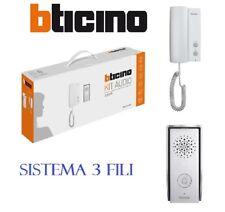 KIT CITOFONO BTICINO MONOFAMILIARE AUDIO LED 3FILI 315111