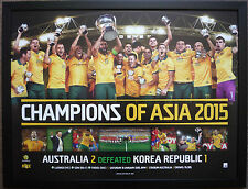 Socceroos 2015 Asian Cup Poster Framed Memorabilia Champions AFC triumph Cahill