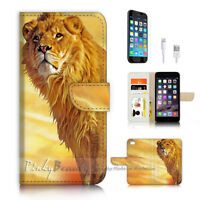 ( For iPhone 6 / 6S ) Wallet Case Cover P4288 Lion