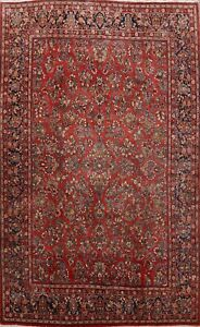 Traditional Vintage Hand-knotted Wool Area Rug Floral Oriental Carpet 10x14 RED