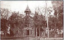 COLUMBUS, KS  Kansas      PURSEL SCHOOL    c1910s   Postcard