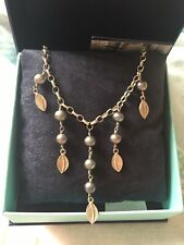 Dower And Hall Sterling Silver And Dove Grey Pearl Necklace