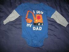 Baby Boy's 3 Mos Koala Baby I Dig My Dad Long Sleeve One Piece Bodysuit