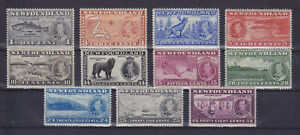 CANADA  NEWFOUNDLAND 1937, SG 257-267, MNH VF, VARIETIES?