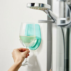 Plastic Wine Glass Holder For The Bath Shower Red Wine Glass Holder - USA