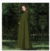 Cloak Ladies Vintage Full Length Outwear Coat Shawl Cape Hooded Wool Blend Women