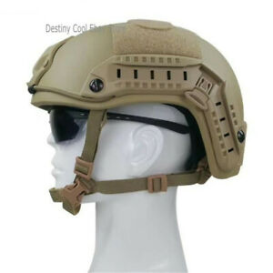 Level 3 Bulletproof Tactical Helmet FAST MICH Game Army UHMWPE BALLISTIC IIIA
