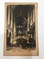 "Antique Paris Eglise St Etienne du Mont Etching Print, 3 1/2"" x 5 3/4"""